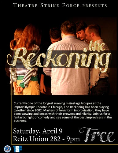 """TSF presents: The Reckoning"" flier"